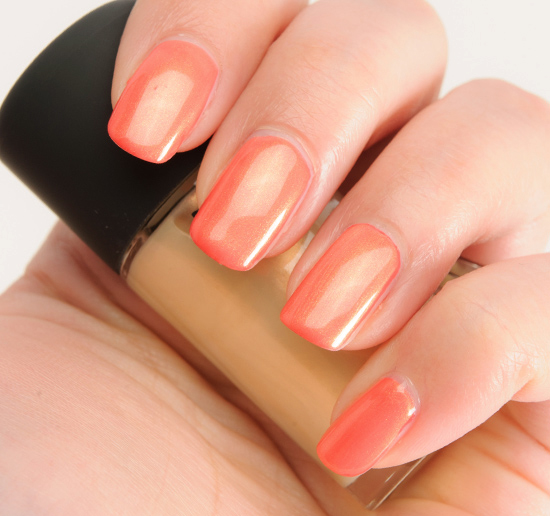 MAC Gold Pearl over Impassioned Nail Lacquer