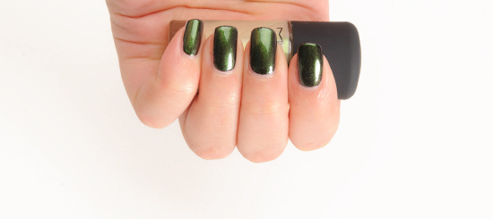 MAC Green Pearl over Nocturnelle Nail Lacquer