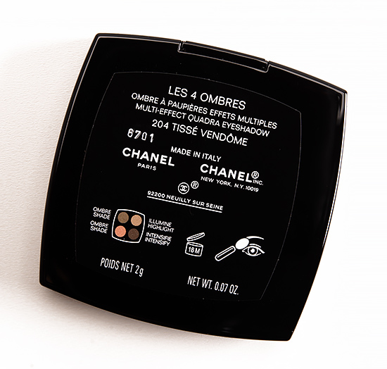 Chanel Tisse Vendome (204) Les 4 Ombres Eyeshadow Quad