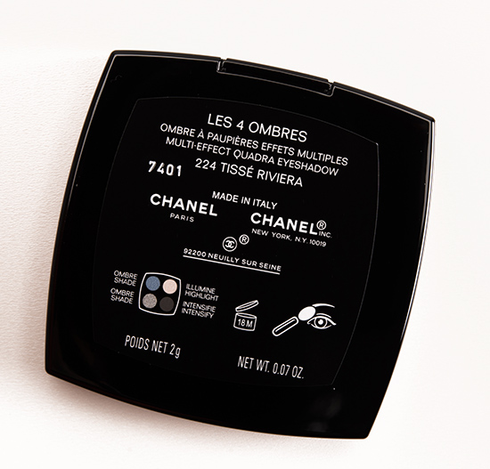 Chanel Tisse Riviera (224) Les 4 Ombres Eyeshadow Quad