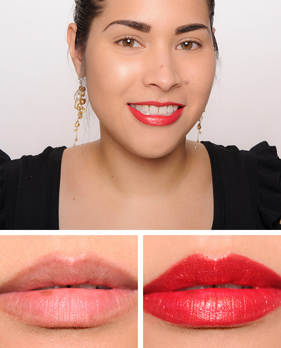 Guerlain Red Strass (327) KissKiss Lipstick