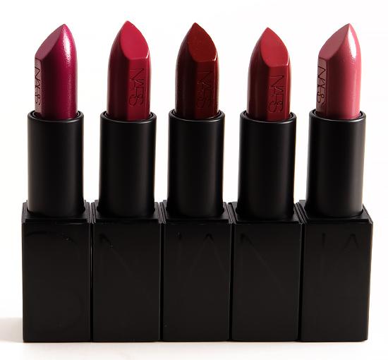 NARS Fanny, Vera, Charlotte, Audrey, Anna Audacious Lipsticks