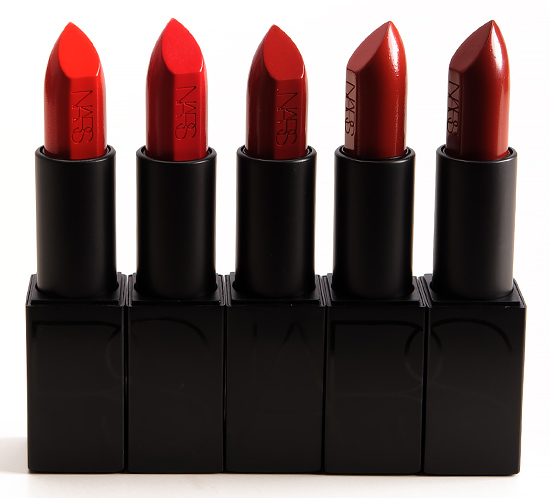 NARS Lana, Annabella, Rita, Marlene, Olivia Audacious Lipsticks