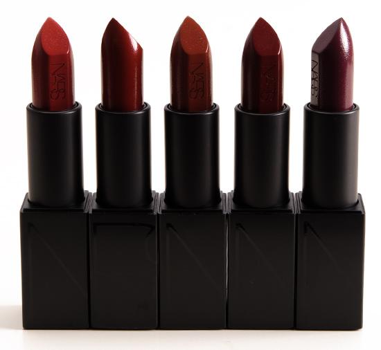 NARS Leslie, Jeanne, Deborah, Bette, Liv Audacious Lipsticks