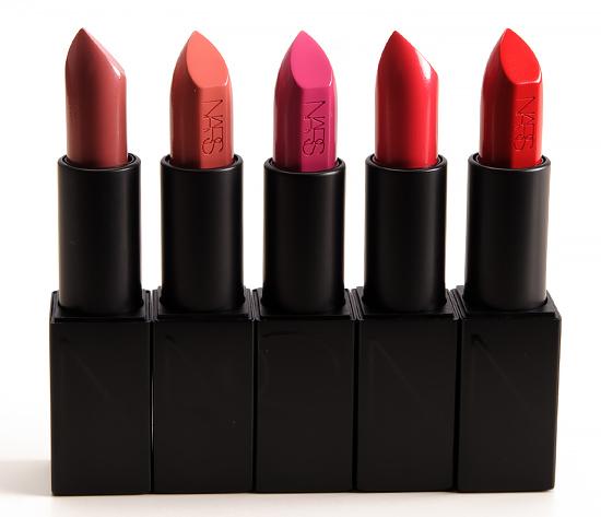 NARS Audacious Lipstick -- Vanessa, Julie, Marisa, Kelly, Carmen