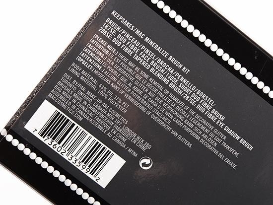 MAC Keepsakes/Mineralize Brush Kit
