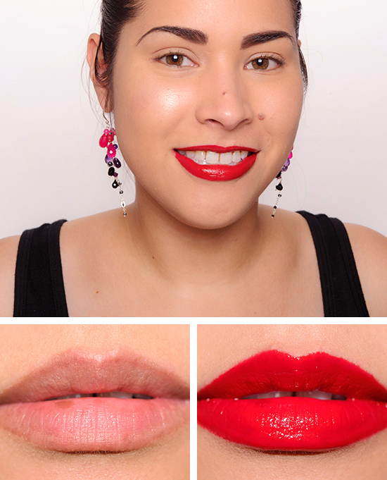 Ruby Woo Lip Pencil with Ruby Woo Lipstick with Ruby Woo Lipglass
