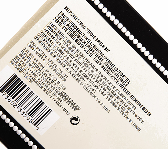 MAC Keepsakes/Studio Brush Kit