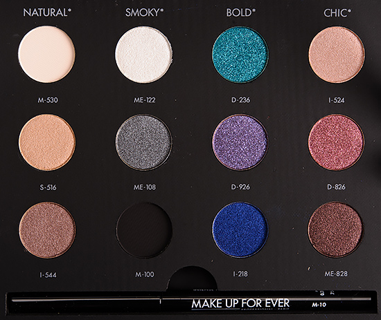 make up for ever studio case eyeshadow palette review