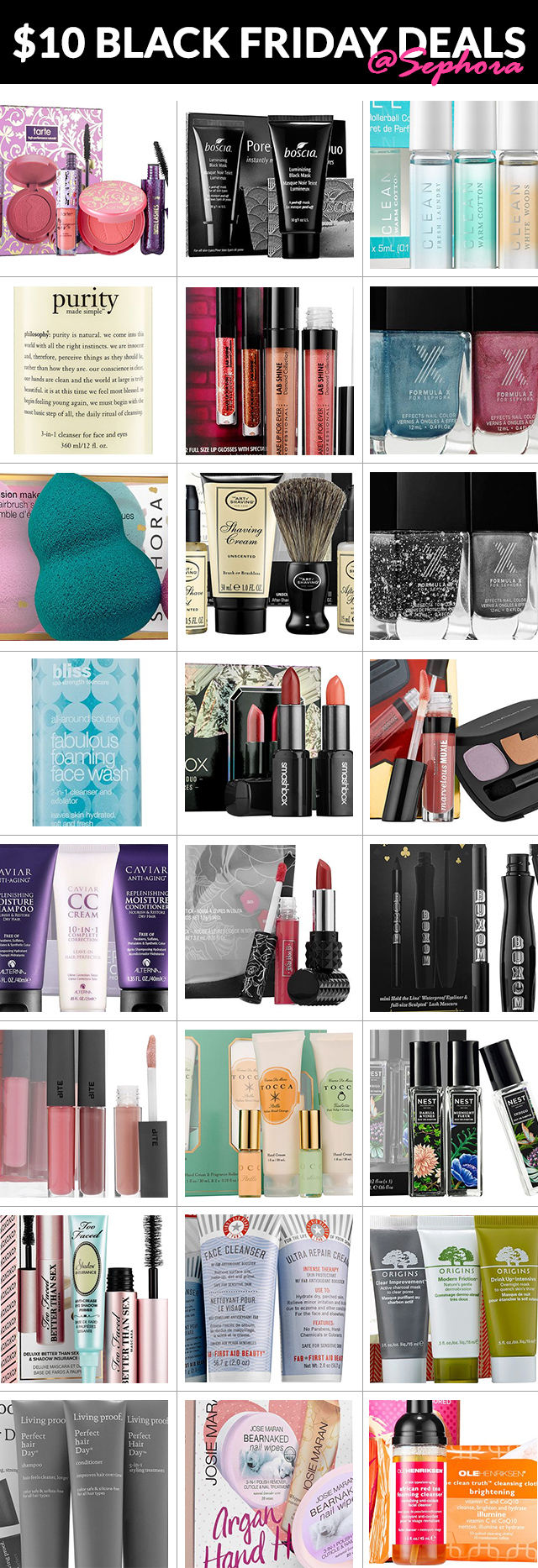 Sephora $10 Black Friday Deals