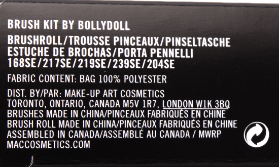 MAC x BollyDoll Brush Kit