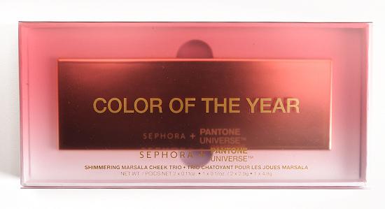 Sephora + Pantone Universe Shimmering Marsala Cheek Trio