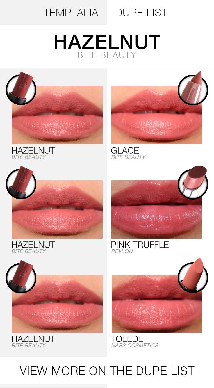 bite-beauty-hazelnut-dupe-list