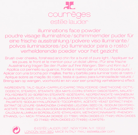 Estee Lauder x Courreges Illuminations Face Powder