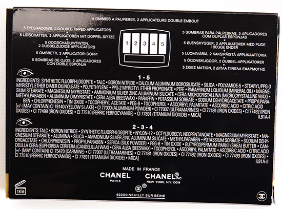 Chanel L'Intemporel de Chanel Eyeshadow Palette