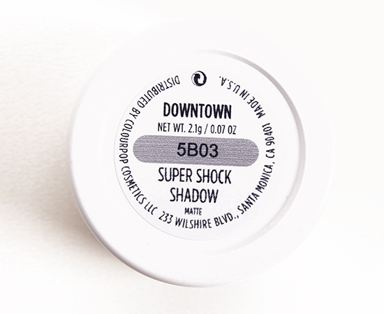 ColourPop Downtown Super Shock Shadow