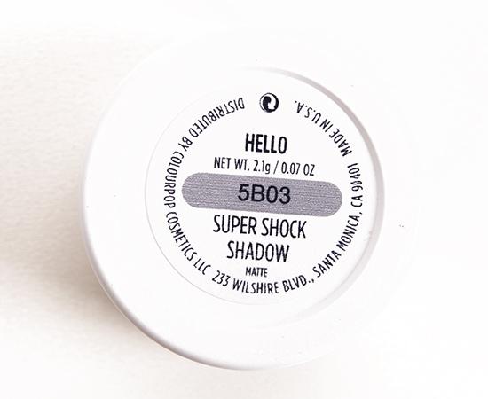 ColourPop Hello Super Shock Shadow
