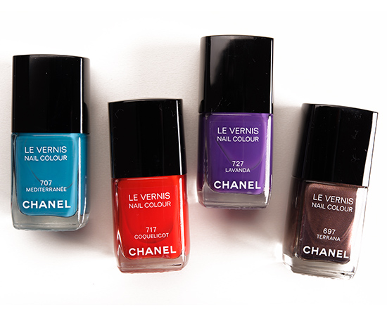 Chanel Mediterranee, Coquelicot, Lavanda, Terrana Le Vernis