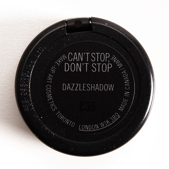 MAC Can't Stop, Don't Stop Dazzleshadow