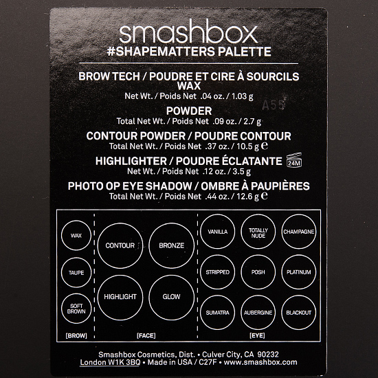 Smashbox #SHAPEMATTERS Palette