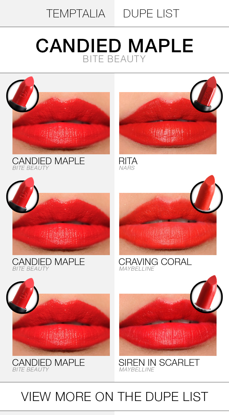 bite-beauty-candied-maple-dupe-list