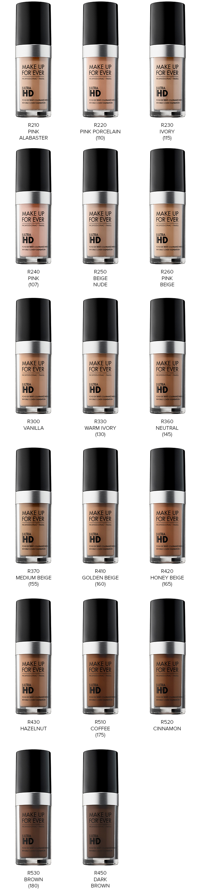 make up for ever ultra hd foundation amp stick foundation