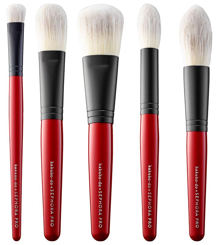 sephora pro brushes. hakuhodo x sephora pro brush collection pro brushes