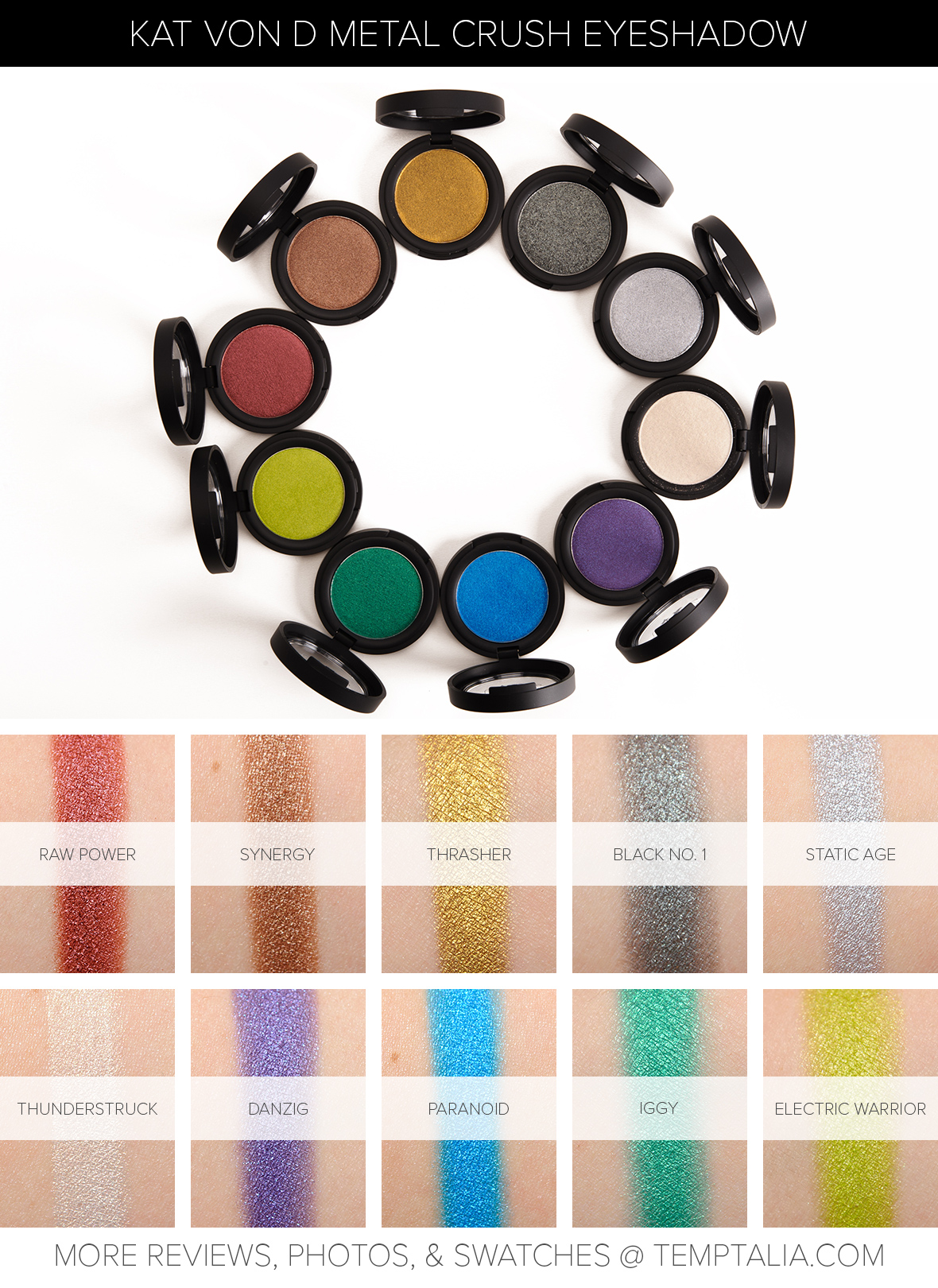 Kat Von D Metal Crush Eyeshadows Photos