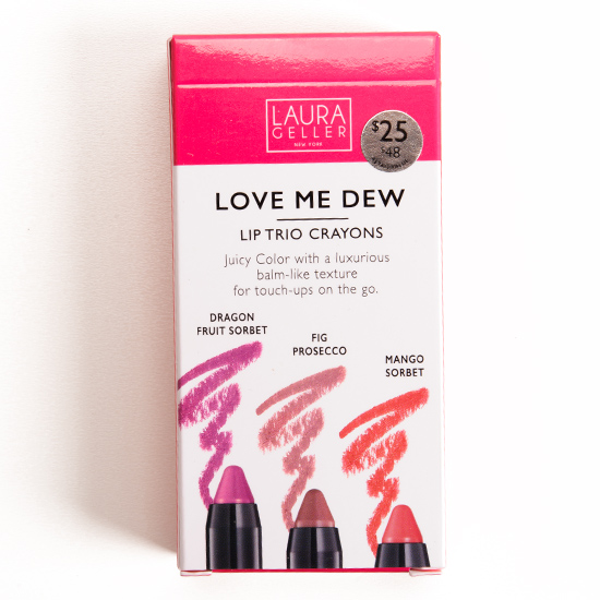 Laura Geller Love Me Dew Moisturizing Lip Crayon Trio
