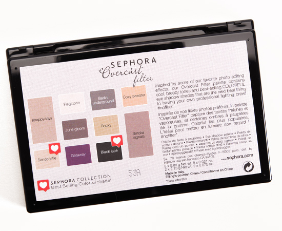 Sephora Overcast Filter Colorful Eyeshadow Palette
