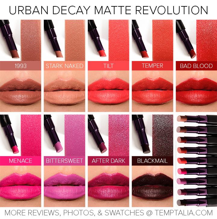 sneak peek urban decay matte revolution lipsticks photos swatches. Black Bedroom Furniture Sets. Home Design Ideas
