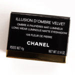 Chanel Fleur de Pierre (106) Illusion d\'Ombre Velvet Long Wear Luminous Matte Eyeshadow