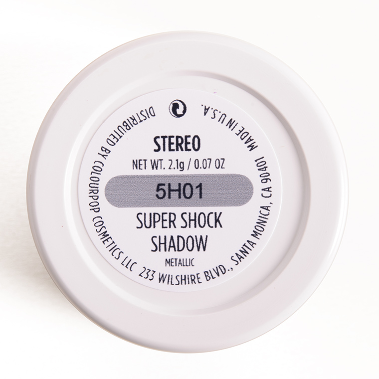 ColourPop Stereo Super Shock Shadow
