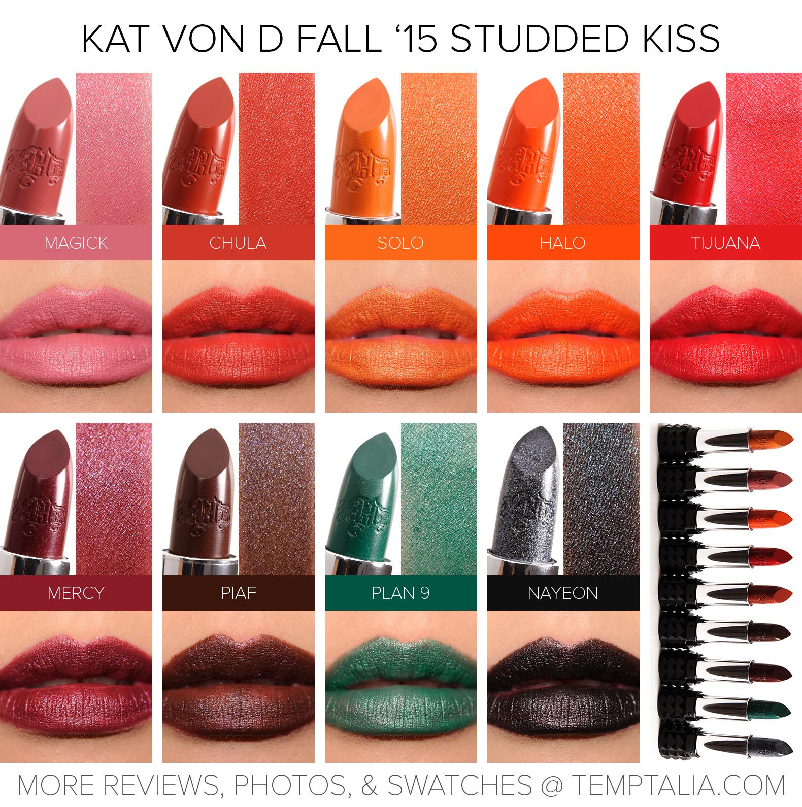 Sneak Peek: Kat Von D Fall 2015 Studded Kiss Lipsticks Photos ...