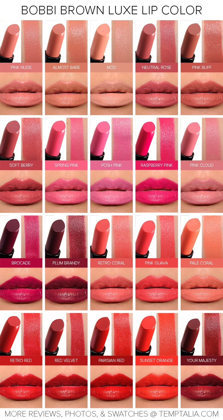 Sneak Peek Bobbi Brown Luxe Lip Color Photos Swatches on bare bright copper
