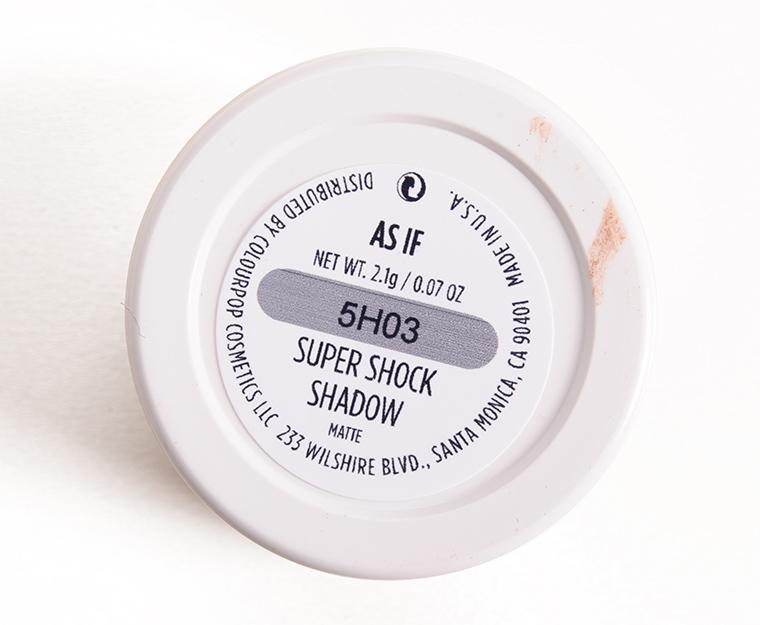 ColourPop As If Super Shock Shadow