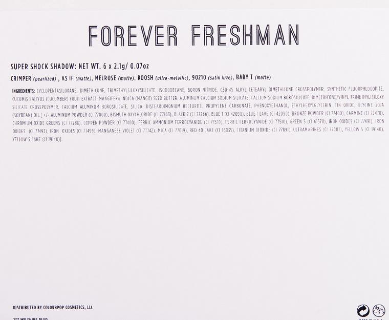 ColourPop Forever Freshman Collection