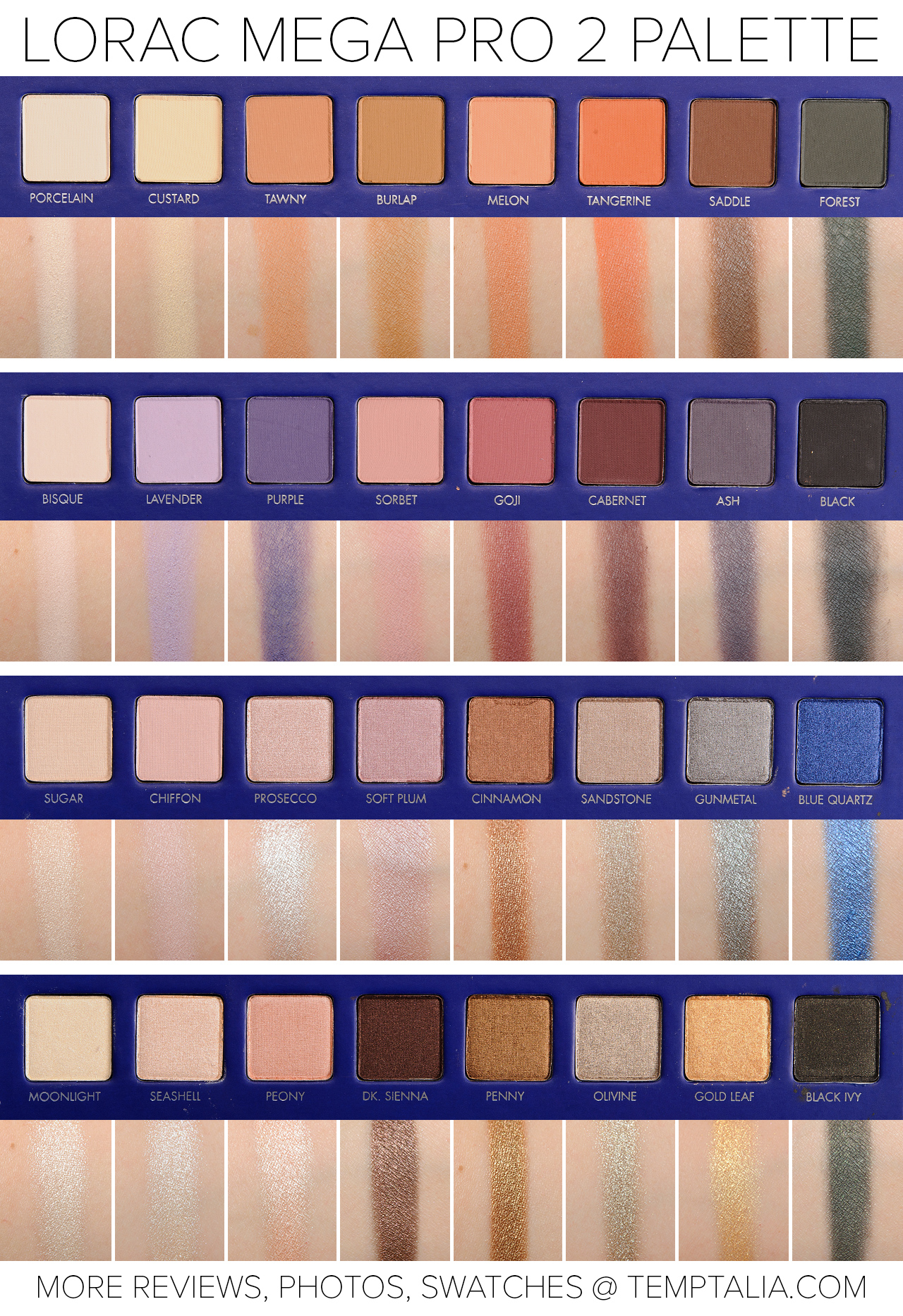 Sneak peek lorac mega pro 2 palette photos swatches baditri Gallery