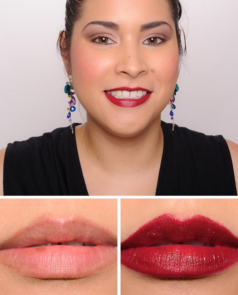 Mac macnificent me lipsticks reviews photos swatches for Mac cosmetics diva lipstick