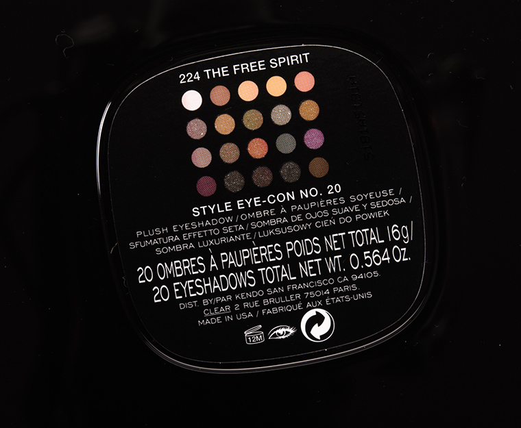 Marc Jacobs Beauty The Free Spirit (224) Style Eye-Con No. 20 Eyeshadow Palette