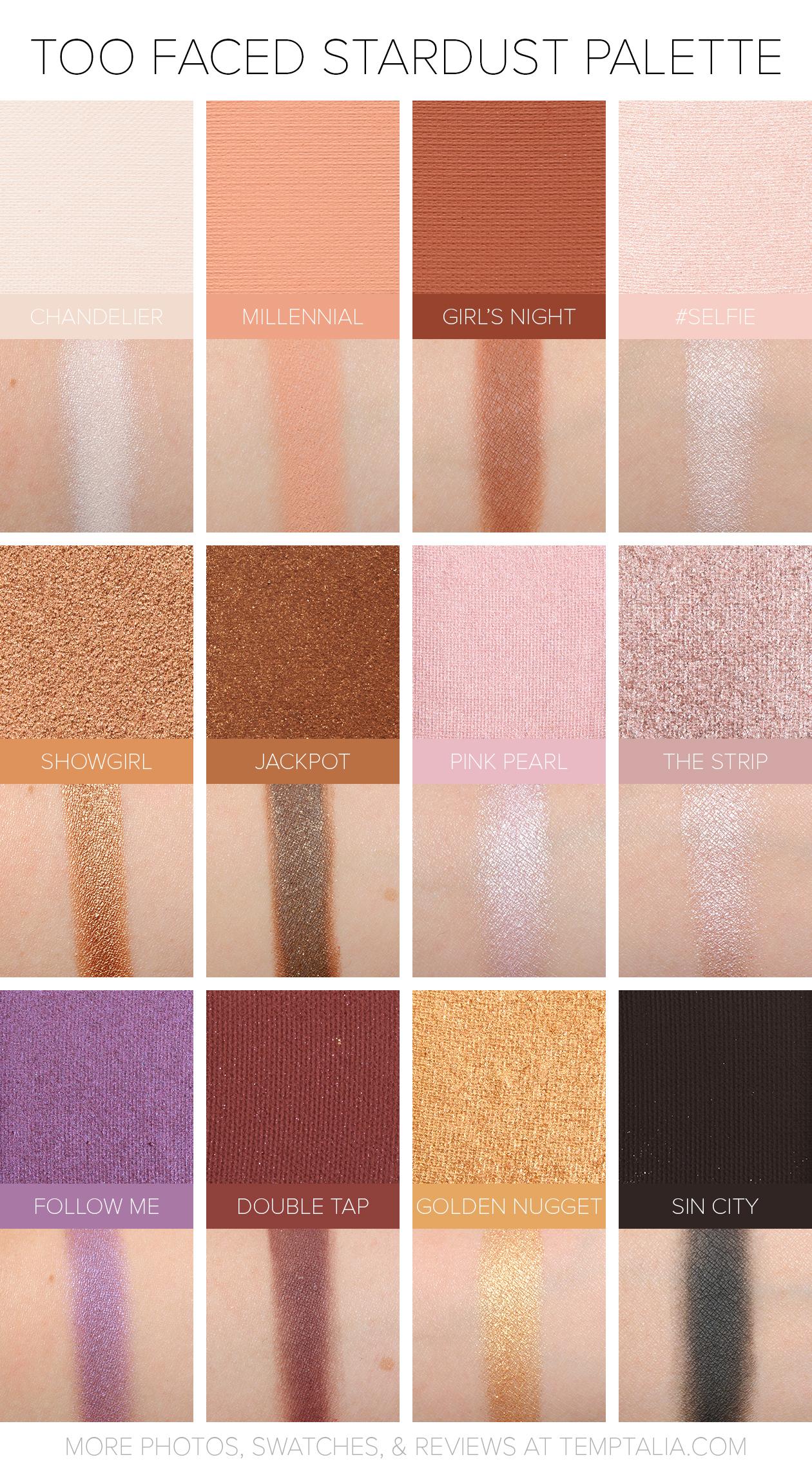 sneak peek too faced stardust eyeshadow palette photos. Black Bedroom Furniture Sets. Home Design Ideas