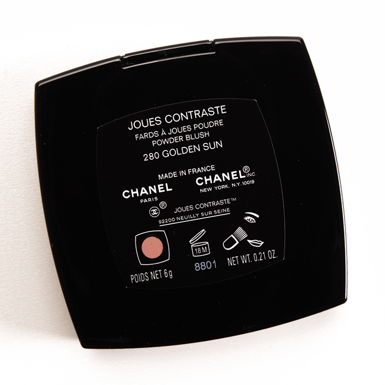 Chanel Golden Sun (280) Joues Contraste Blush