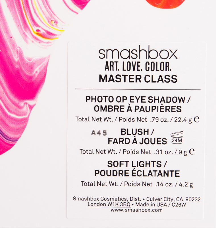 Smashbox Art. Love. Color. Master Class Holiday 2015 Palette