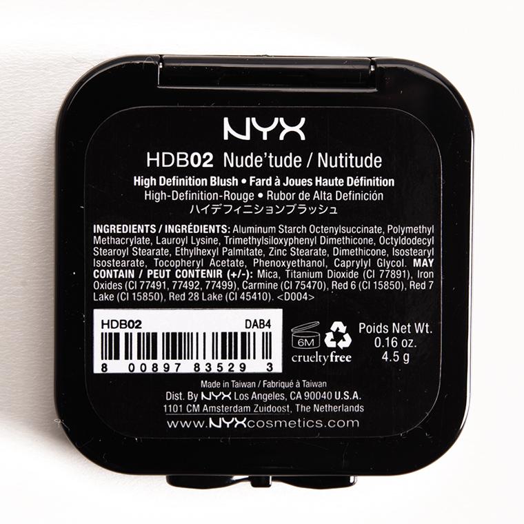 NYX Nude 'tude (02)  HD Blush
