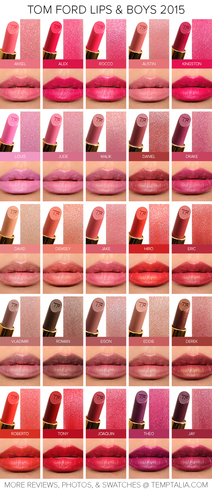 Tom Ford Lips & Boys Collection