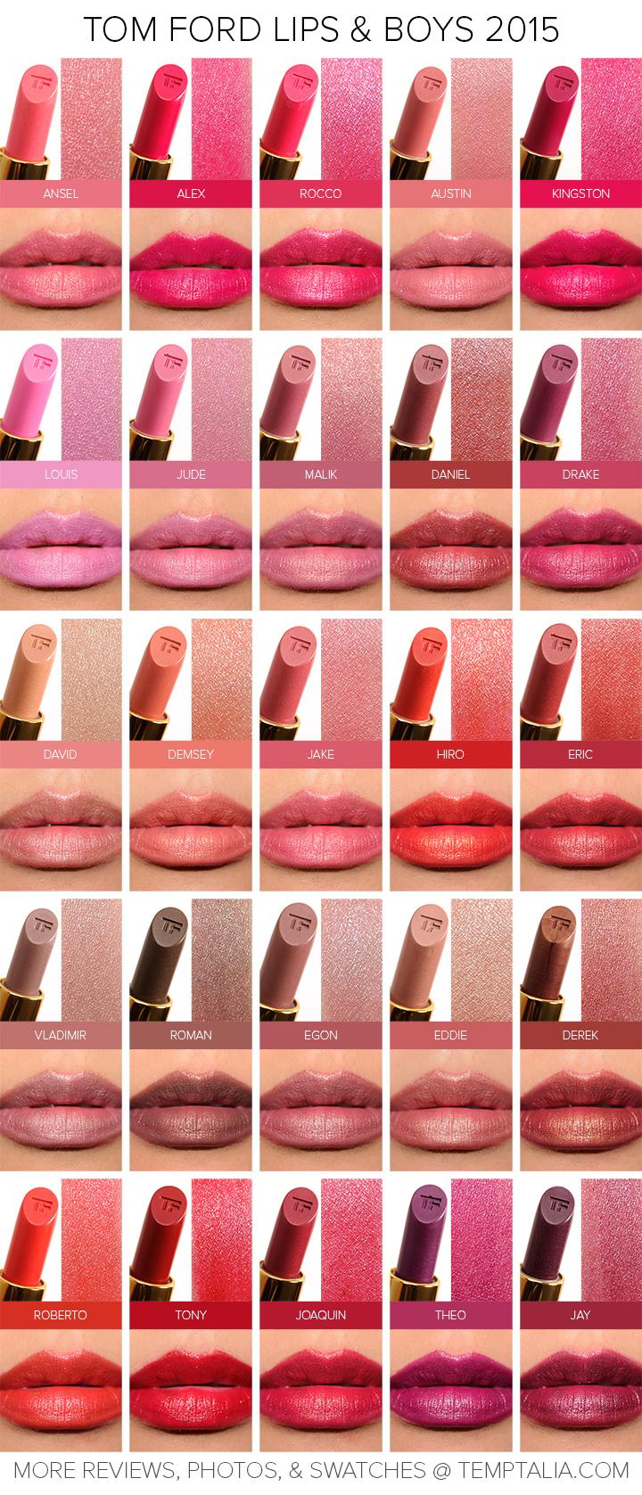 Sneak Peek: Tom Ford Lips & Boys 2015 Swatches & Photos
