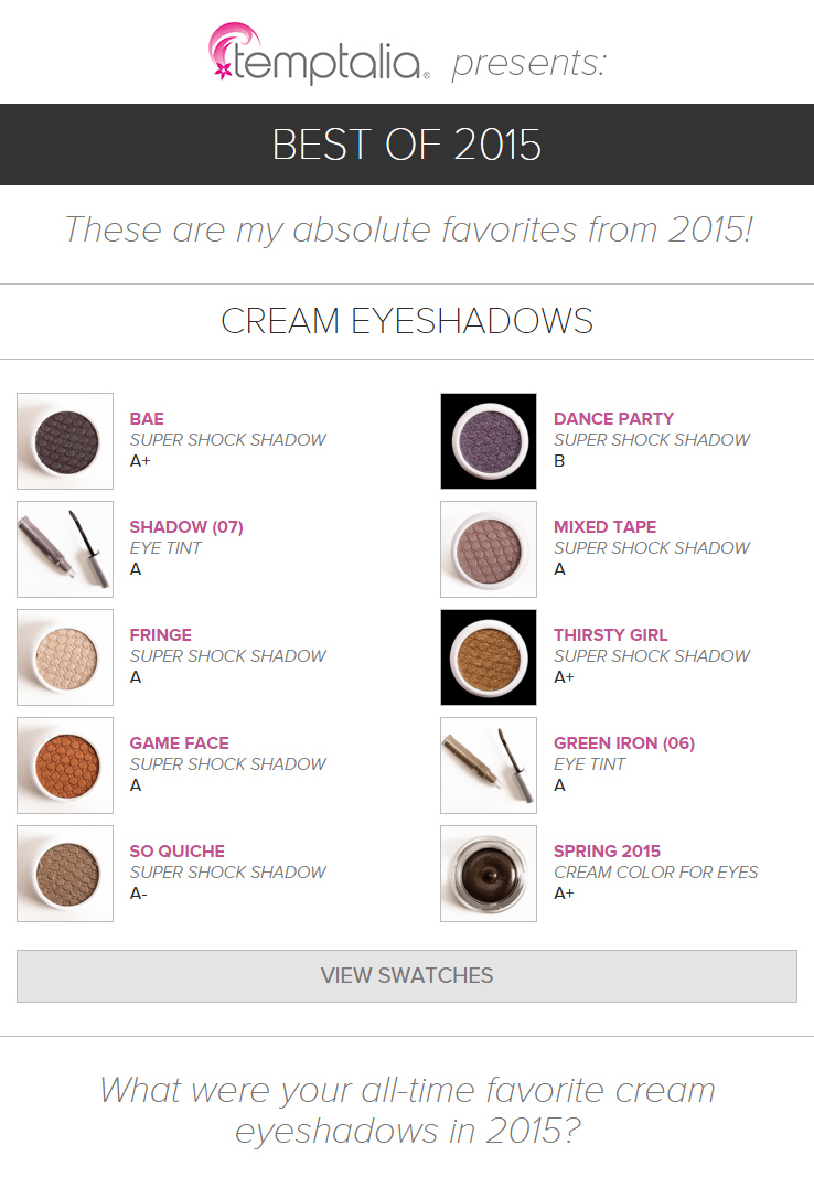 Top 10 of 2015: Best Cream Eyeshadows
