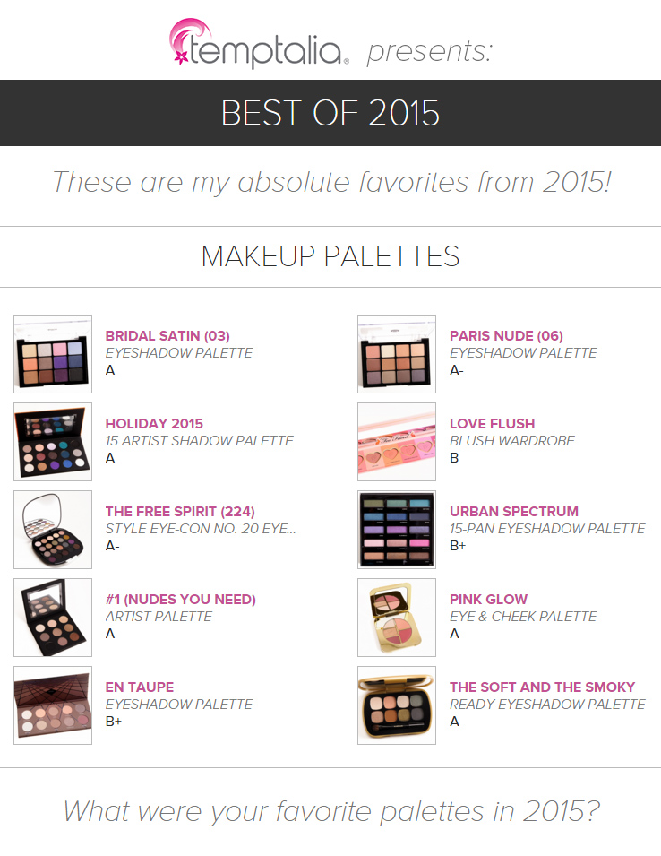 Top 10 of 2015: Best Palettes