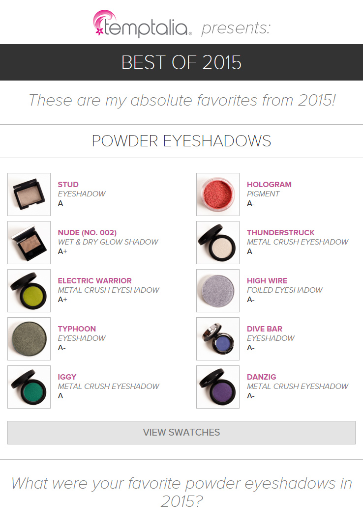 Top 10 of 2015: Best Powder Eyeshadows