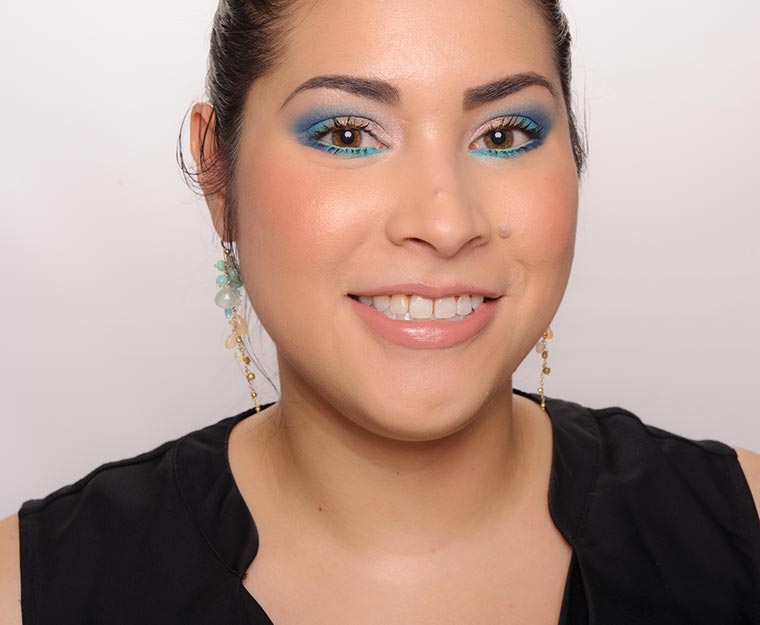 Neutral with a ColourPOP! of Teal